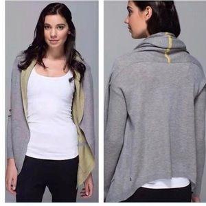 Lululemon Reversible Cabin Yogi Wrap Sweater Sz 8